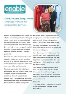 Helen's success story