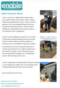 Lauren success story